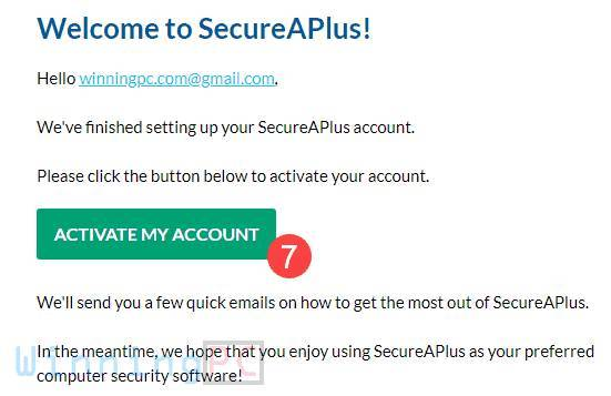 secureaplus essentials license key step 4