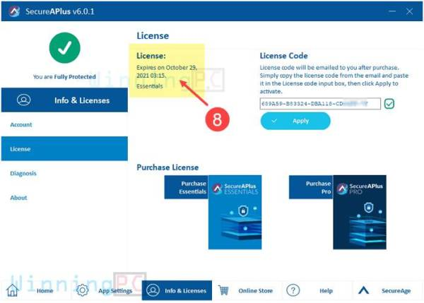 secureaplus essentials license key step 5